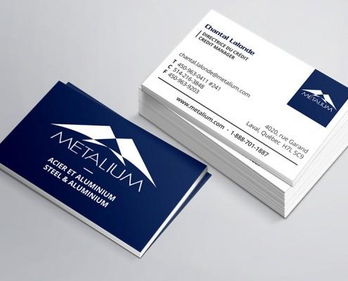 Metalium Cartes d'affaires