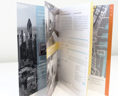 HIP brochure design graphique